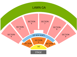 Fnc Seating Chart Unfolded Keybank Seating Chart Keybank Pavilion Seating