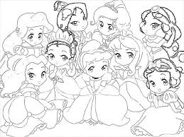 Princess Coloring Pages Baby Disney Tattoo Nice