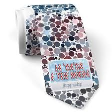 Tahitian Designs Neck Tie With Merry Christmas In Tahitian From Tahiti White