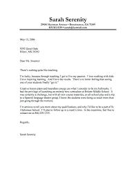 Teacher Cover Letter Sample Job Cover Letter Sample Format Of Covering Letter For Job