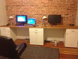 2 person desk ikea amazing diy home office desk 2 black