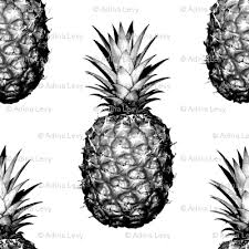 black and white pineapple png. black and white pineapples - medium tiling pattern pineapple png