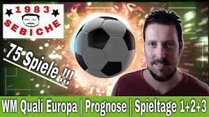 Die spiele gegen katar finden alle in europa als freundschaftsspiele statt und gehen daher nicht in die wertung ein. Wm Qualifikation 2022 Europa Meine Prognose Spieltag 1 2 3 Youtube