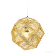 tom etch light pendant lamp modern chandelier ceiling brass gold silver ball pendent lamps shade