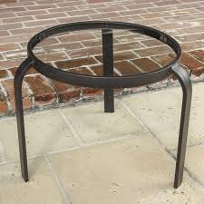 20 inch round patio end table with glass top by lakeview outdoor designs ultimate patio