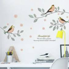 bird tree branch wall decals home art