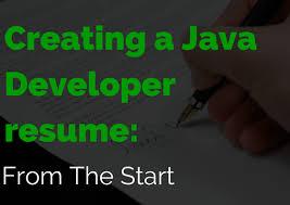 Creating A Java Developer Resume