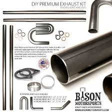 build your own motorcycle exhaust kit made from premium tubing for harley davidson shovelhead and evo motorcycles