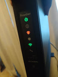 Frontier Modem Lights My Router Has Been Flashing Like This For A Month Been
