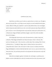 lord of the flies documents course hero lord of the flies essay