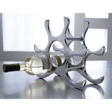 countertop wine rack 6 bottle holder