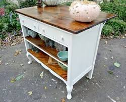 diy kitchen island from dresser. Antique Dresser Repurposed As Kitchen Island With Overhang For Seating! Diy From A