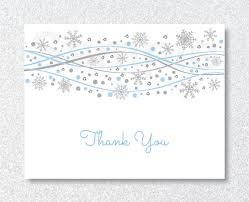 snowflake thank you cards snowflake thank you card winter snowflake baby shower blue
