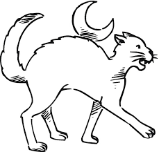 Small Picture Halloween Cat Coloring Pages Getcoloringpages Com Coloring