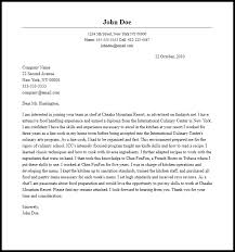 Pastry Chef Cover Letters Sample Cover Letter For Chef Under Fontanacountryinn Com