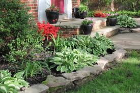 Enamour Front For Images About Front Landscaping Ideas On Flower Garden  Ideas Along With House in