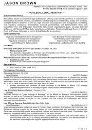 ... legal assistant resume objectives sample ...