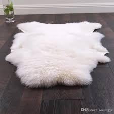 uncut shaped 90 120cm australian sheepskin rug for decoration carpet natural white sheep fur cushion sheep fur ground mat canada 2019 from waitingye