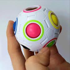 Magic Ball Creative Rainbow Soccer Ball For Stress Relief Fidget ...