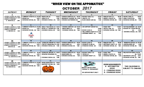 Activity Calendar - October 2017 - River View Health & Rehab Center ...