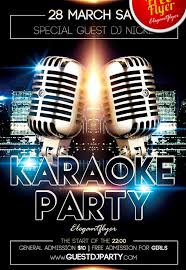 karaoke party free psd flyer template facebook cover
