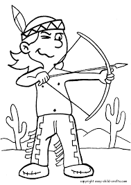 Native American Indian Coloring Pages For Kids 2nd Birthday