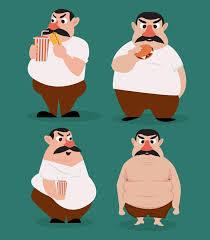 fat man icons funny cartoon character 133746 free ai eps vector