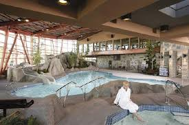 indoor pool and hot tub with a slide. River Rock Casino Resort: Indoor Water Slide, Swimming Pool And Hot Tub With A Slide B