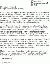 cover letter for engineering job engineering cover letter sample in sample mechanical engineering