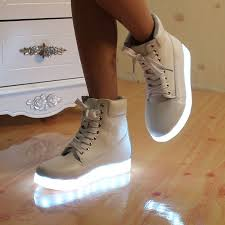 light up shoes chaussure a led 8 couleur led shoes 2016 new colorful female high