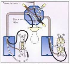 3 way switch wiring diagram > power to switch then from that light and outlet 2 way switch wiring diagram