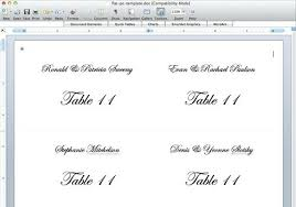 Fold Over Place Cards Fold Over Place Card Template Word Nyani Co