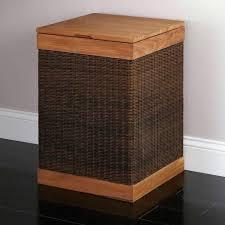 narrow laundry hamper tall slim basket black and white bin rectangular narrow laundry hamper