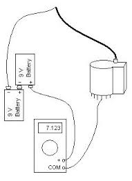 dissection of a flyback transformer connect the circuit as shown the meter should be set to dc volts as high as 18 volts for most meters that is likely to be the 20 vdc range the wire