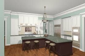 l shaped kitchen with island color idea