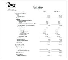 Personal Profit And Loss Template Basic Profit And Loss Template