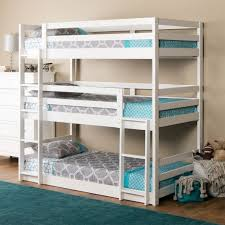 The Triple Decker triple twin bunk bed speaks for itself. Just look at the  kid-capacity it offers. You'll easily have room for everyone with this s