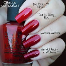 Opi Reds The Color Of Minnie Danke Shiny Red Wocka Wocka Im