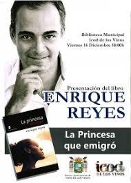 El periodista y escritor tinerfeño Enrique Reyes presentará en Icod de los Vinos su novela La princesa que emigró, publicada por la editorial Éride ... - PRESENTACIONLIBROBIBLIOTECA-215x300