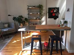 stainless steel kitchen table. This $150 Worktable Is Basically An Instant Kitchen Island Stainless Steel Table E