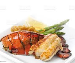 Grilled Lobster Tail Stock Photo ...