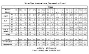 Size Chart Shoes Us T 236 M V I Shoes Shoe Size Chart