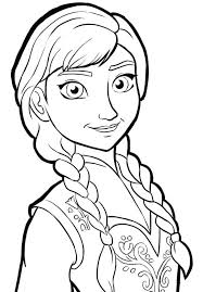 Anna Frozen Coloring Page Best Frozen Coloring Pages Images On