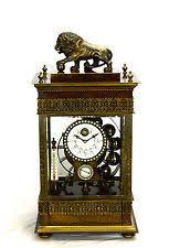 ball bearing clock. larger french style ferris wheel falling ball brass industrial regulator clock bearing d