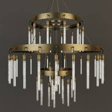 rh axis three tier chandelier 3d model max obj mtl 1