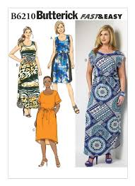 Butterick Plus Size Patterns Fascinating B48 Women'sWomen's Petite ElasticWaist Dresses Sewing Pattern
