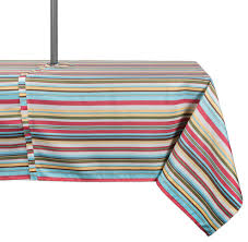 dii summer stripe outdoor tablecloth with zipper 60 x120 contemporary tablecloths by design imports