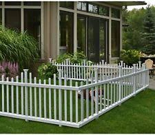 white fence panels. White Picket Garden Fence Free Standing Set Of 2 Vinyl 30 In. X 58 In Panels