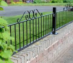metal fence styles. Metal Fence Rails Railings Gardensitecoukrhgardensitecouk Fencing Styles Adelaide Sa Paling Picket Steel Glassrhjimsfencingnet L