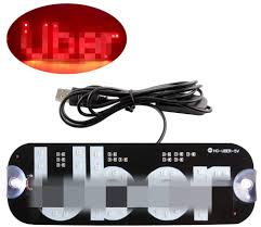 Uber Light Amazon Led Usb Sign Light Red Glow Sign Decal Stickers With Suction Cups Flashing Hook On Car Window With Dc12v Car Usb Socket For Drivers Accessories